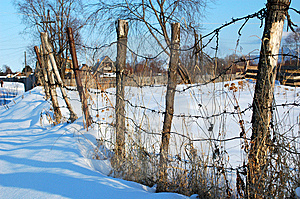 Winter In The Siberian Village Stock Image - Image: 7920881