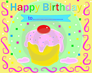Happy Birthday Multicolor Card Stock Photo - Image: 7922270