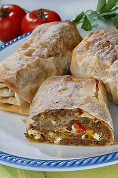 Rolled Pastry With Meat Royalty Free Stock Images - Image: 7923359
