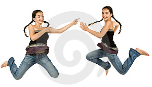 Two Identical Girls Royalty Free Stock Photos - Image: 7923608