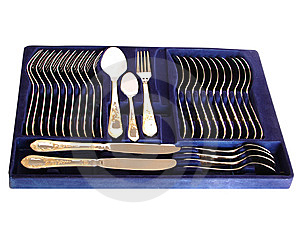 Complete Silverware Set Royalty Free Stock Images - Image: 7924019