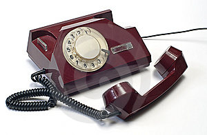 Old Telephone On White Stock Photo - Image: 7925110