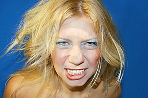 Crazy Woman Royalty Free Stock Photography - Image: 7925357