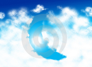 Moon Shaped Cloud Stock Image - Image: 7925911