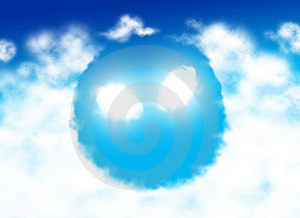 Alien Face Shaped Cloud Stock Photography - Image: 7925922