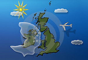 Flying Over Britain Winter Stock Photos - Image: 7928863