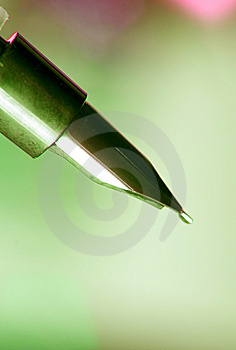 Close-up Of A Fountain Pen Royalty Free Stock Photo - Image: 7929445