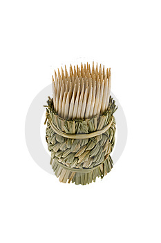 Bamboo Toothpicks Royalty Free Stock Photography - Image: 7930317