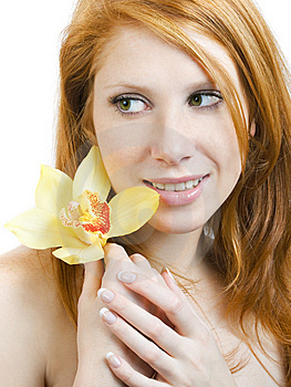 Orchid At Fingers Stock Photo - Image: 7932760