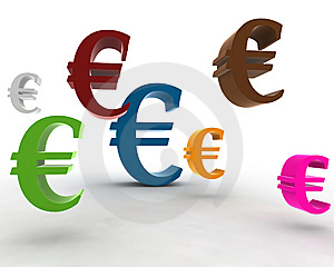 Euro Symbol In The Air Royalty Free Stock Photo - Image: 7933785