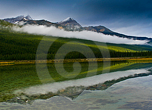 Rockies Reflection Stock Photo - Image: 7934250