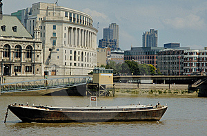 Boats On The Thames Stock Image - Image: 7934411