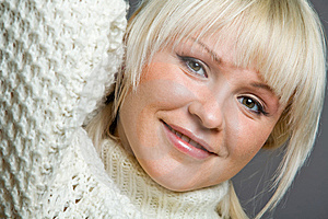 Close-up Portrait Of Lovely Blond Woman Royalty Free Stock Photography - Image: 7934527