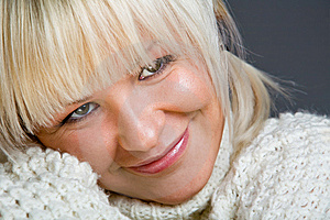 Close-up Portrait Of Lovely Blond Woman Stock Image - Image: 7934531