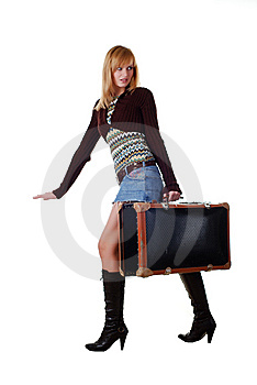 Woman With Travelling Bag Royalty Free Stock Image - Image: 7935936