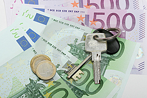Euro Banknotes With Various Coins Stock Photography - Image: 7936262