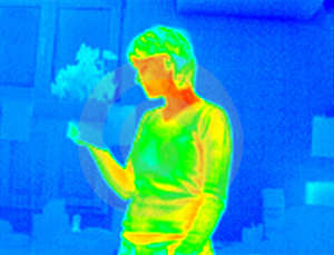 Stock Images - Thermograph-girl reading