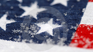 Snowflakes On A Background A Flag Royalty Free Stock Image - Image: 7937486