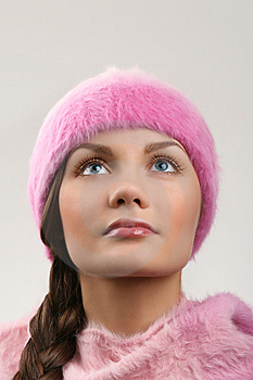 Young Beautiful Adult Woman Looking Up Stock Photos - Image: 7937853