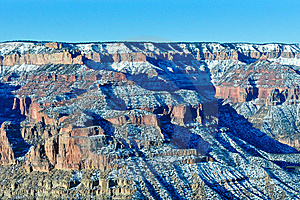 Grand Canyon Snow Stock Image - Image: 7940191