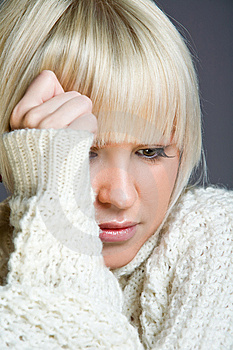 Lovely Blond Woman With A Serious Look Stock Images - Image: 7942714