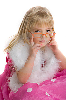 Girl With Glasses Royalty Free Stock Photography - Image: 7944147
