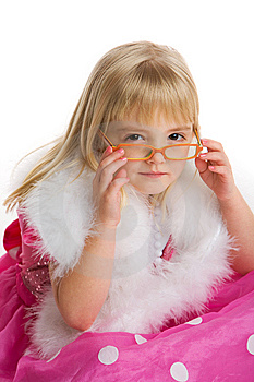 Girl With Glasses Stock Images - Image: 7944164