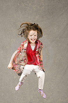 Little Girl Leaping Into Air Stock Images - Image: 7945464
