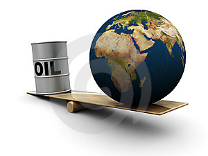 Earth And Oil Royalty Free Stock Image - Image: 7946076