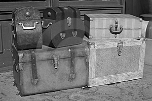 Classic Suitcases Stock Photo - Image: 7947930