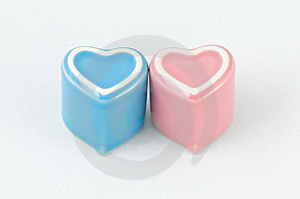 Two Heart-shape Cups On White Background Royalty Free Stock Photos - Image: 7948088