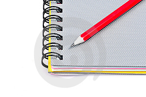 Notepad And Pencil Stock Photography - Image: 7948272