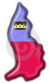 Liechtenstein Button Flag Map Shape Stock Photo - Image: 7949830