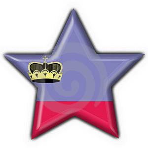 Liechtenstein Button Flag Star Shape Royalty Free Stock Photo - Image: 7949835