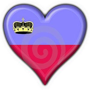 Liechtenstein Button Flag Heart Shape Royalty Free Stock Photos - Image: 7949838