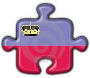 Liechtenstein Button Flag Puzzle Shape Stock Image - Image: 7949841