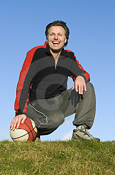 Happy Sportsman. Royalty Free Stock Images - Image: 7950489