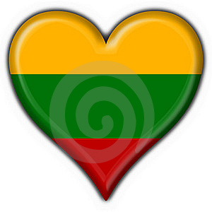 Lithuania Button Flag Heart Shape Stock Images - Image: 7950824