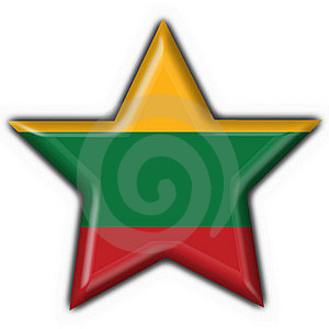 Lithuania Button Flag Star Shape Royalty Free Stock Images - Image: 7950829