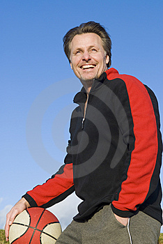 Happy Sportsman. Stock Images - Image: 7950924