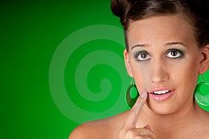 Beautiful Woman Gesturing Stock Image - Image: 7952821