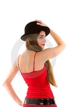 Glamour Woman With Hat Stock Image - Image: 7953061