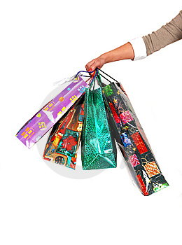 The Arm Of A Woman With Shoping Bag's. Stock Photo - Image: 7953330