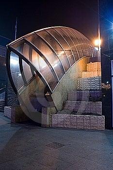 Escalators By Night In Poland Stock Photo - Image: 7953370