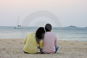 Sweet Heart  Laying Back In Sunrise Royalty Free Stock Photography - Image: 7953747