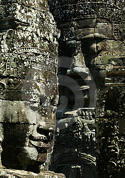 Cambodia Smile Of Bayon Wat,Siem Riep Royalty Free Stock Photos - Image: 7954868