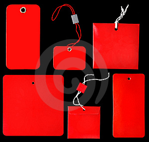 Red Labels Royalty Free Stock Image - Image: 7955626