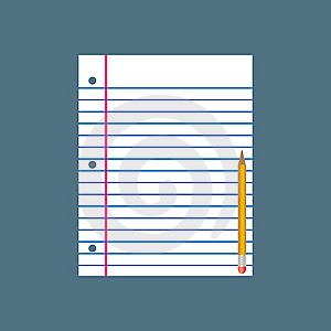 Paper And Pencil Royalty Free Stock Photo - Image: 7955775