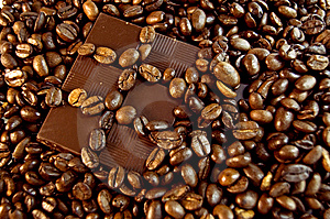 Chocolate and coffee Royalty Free Stock Photos