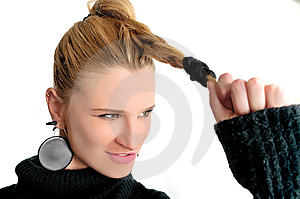 Strong Hair Stock Images - Image: 7957054